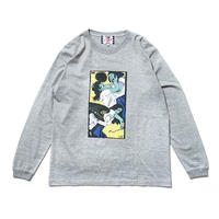 SON OF THE CHEESE | Face long shirt (GRAY)