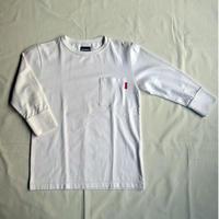 Oh!theGuilt: 1/2 SLEEVE POCKET RIB T-SHIRT(ホワイト)