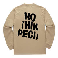 NOTHIN SPECIAL /  WRINKLE LOGO LONG SLEEVE (SAND)