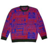 OBEY | POST SWEATER (RED MULTI)
