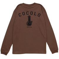 COCOLO BLAND / BACK BONG L/S TEE (BROWN)