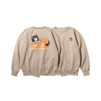 坩堝 | HENDRIK CREW SWEAT  RUTSUBO×FACE×DOUBLE FOOT  (SAND)