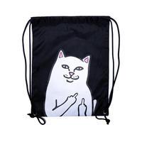 RIPNDIP   Lord Nermal Drawstring Bag(BLACK)