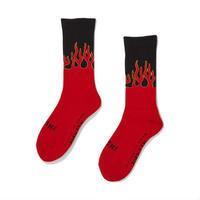 坩堝 | RUTSUBO×I&ME FLAME SOX (RED/BLACK)