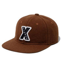 XLARGE| PATCHED WOOL CAP(BROWN)