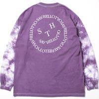 SAYHELLO / Face Logo Sleeve Dyed L/S Tee (Light Purple)