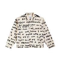 POLAR SKATE CO. / JEAN JACKET-SAD NOTES (IVORY)