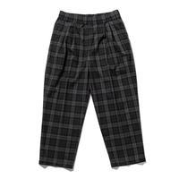 坩堝   TARTAN EASY PANTS (BLACK/GREY)