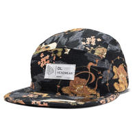 DL HEADWEAR | Omega 5Panel Camp Cap (fujin raijin)