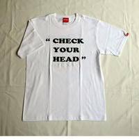 "Oh!theGuilt | ""CHECK YOUR HEAD"" S/S T-SHIRT(ホワイト)"