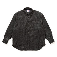 SON OF THE CHEESE | BIG HERRINGBONE SHIRT (BLACK)