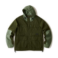 """FTC   HOODED CARGO JACKET """"OLIVE"""" (FTC021SPJ02)"""