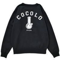 COCOLO BLAND / BACK BONG HEAVY CREWNECK (BLACK)