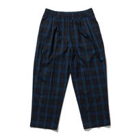 坩堝 | TARTAN EASY PANTS (BLACK/NAVY)