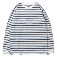 SAYHELLO / Border Pocket L/S Tee (WHITE)