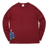 WHIMSY / HIROSUE L/S TEE (CARDINAL)