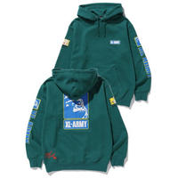XLARGE|XL-ARMY HOODED SWEAT (GREEN)