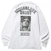 BORN X RAISED / IMMACULATE HEART L/S TEE  (WHITE)