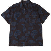 OBEY   DOMAIN WOVEN S/S SHIRTS (BLACK MULTI)