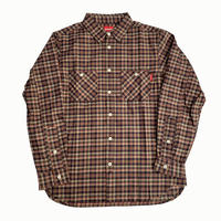 Oh!theGuilt /  REAL WORK FLANNEL SHIRT(ブラウン / グリーン)