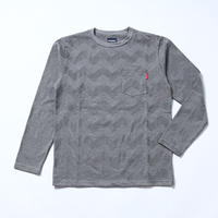 Oh!theGuilt: CHEVLON STRIPE BORDER L/S T-SHIRT(ミックスグレー)