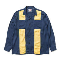 SON OF THE CHEESE | bowling shirt (NAVY)