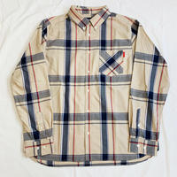 Oh!theGuilt: BIG SILHOUETTE PLAID BD SHIRT(ベージュ/ブルー/レッド))