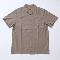 "Oh!theGuilt : S/S OPEN COLLAR SHIRT""BROWNY""(ブラウンシャンブレー)"