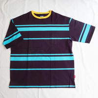 Oh!theGuilt:BIG POCKET BORDER T-SHIRT(パープル)