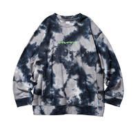 Liberaiders / TYE DYE CREW NECK(BLACK)