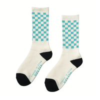 坩堝 | CHECKER SOX (WHITE/SKY)