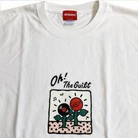 """Oh!theGuilt  / 5el 001 """"MUSIC FLOWER"""" T-SHIRT(ホワイト)"""