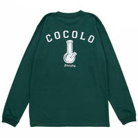 COCOLO BLAND / BACK BONG L/S TEE (IVY GREEN)