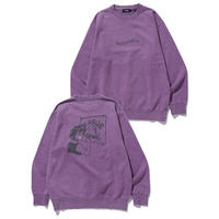 XLARGE|SMOOTH PAINTER PIGMENT CREWNECK SWEAT(PURPLE)