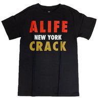 ALIFE | CRACK  S/S Tシャツ(ブラック)