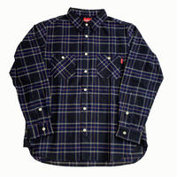 Oh!theGuilt / REAL WORK FLANNEL SHIRT (ネイビー / ブラウン / イエロー)