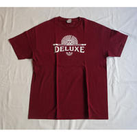 USED (古着)DELUXE Tシャツ(バーガンディー)