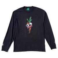 Carrots by Anwar Carrots | CARROTS × NATHAN NANKERVIS CARROTS FACE LONG SLEEVE (BLACK)