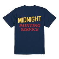 "MIDNIGHT PAINTING SERVICE | ""MPS"" LOGO S/S TEE (NAVY/THE BE SHARE 限定カラー)"