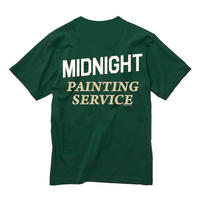 "MIDNIGHT PAINTING SERVICE | ""MPS"" LOGO S/S TEE (GREEN)"