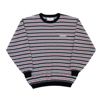 YARDSALE / Stripe Knit Crew (Black/Red)
