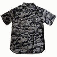 Oh!theGuilt | S/S REAL WORK CHAMBRAY SHIRT CAMO (グレーカモ)