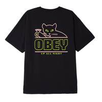 OBEY |UP ALL NIGHT S/S(BLACK)