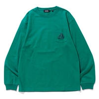 XLARGE|L/S POCKET TEE EMBROIDERY SLANTED OG (GREEN)