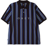 OBEY   ASHBY POLO S/S (BLACK MULTI)