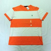 USED (古着)POLO ボーダーTシャツ(オレンジ/ホワイト)