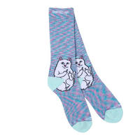 RIPNDIP | LORN NERMAL MULTI COLOR SPECKLE SOX (BABY BLUE SPECKLE)