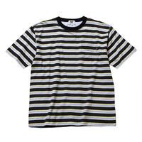 坩堝 | BORDER S/S T-Shirt(BLACK/GREY)