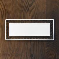 plate「泡のリム長皿」戸島 邦子 031448-2-442