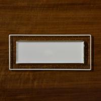 plate「泡のリム長皿」戸島 邦子 024667-1-424